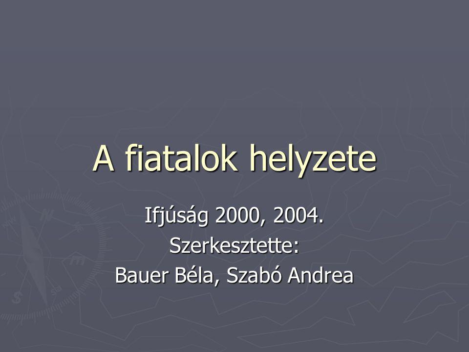 Ifjúság 2000, 2004. Szerkesztette: Bauer Béla, Szabó Andrea
