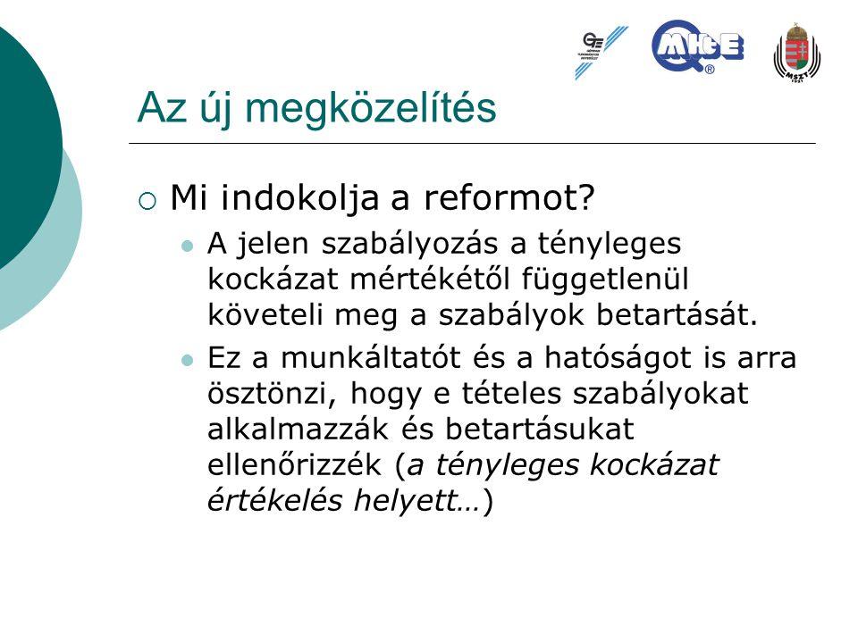 Az új megközelítés Mi indokolja a reformot