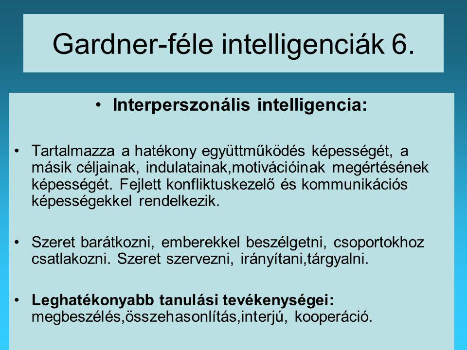 Gardner-féle intelligenciák 6.