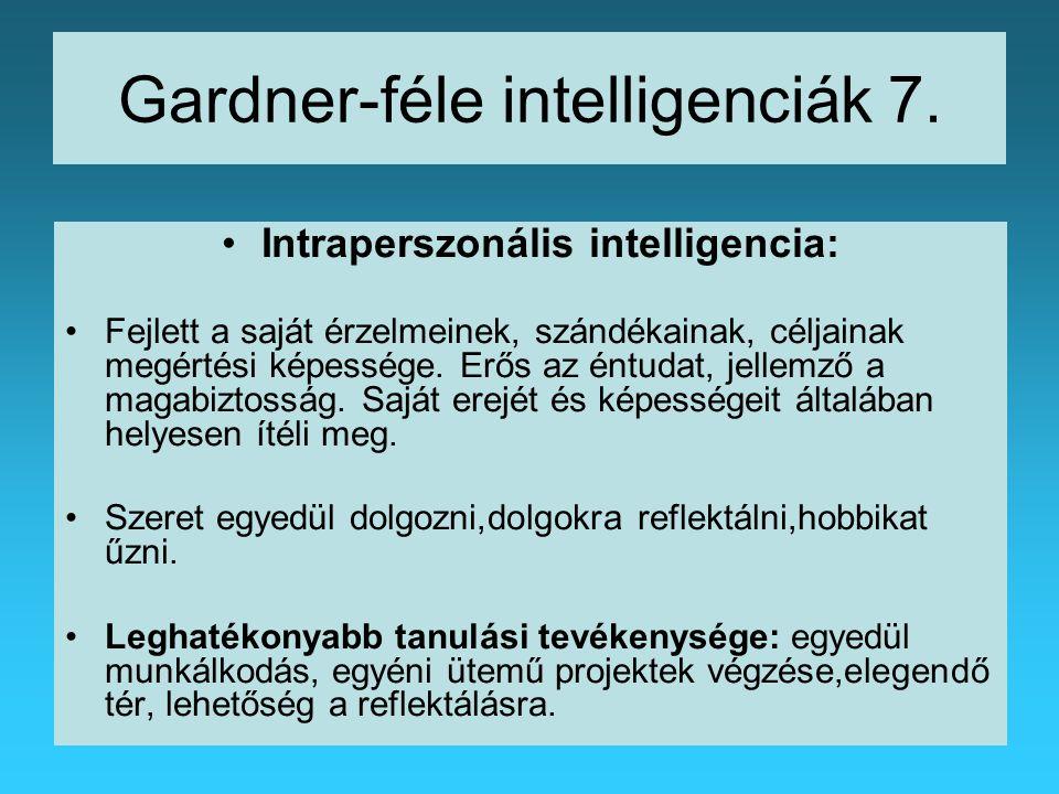 Gardner-féle intelligenciák 7.