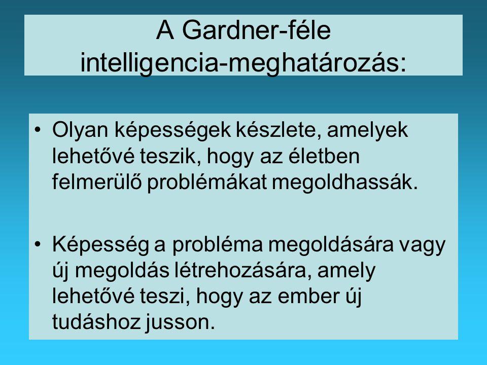 A Gardner-féle intelligencia-meghatározás: