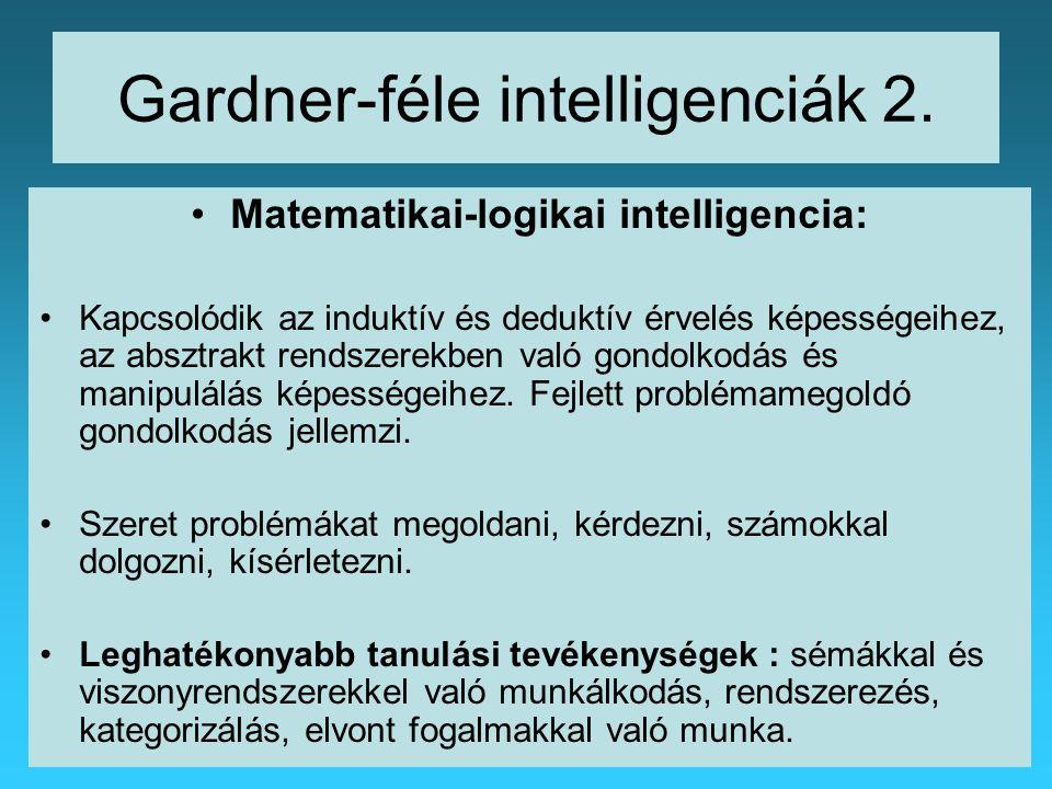 Gardner-féle intelligenciák 2.
