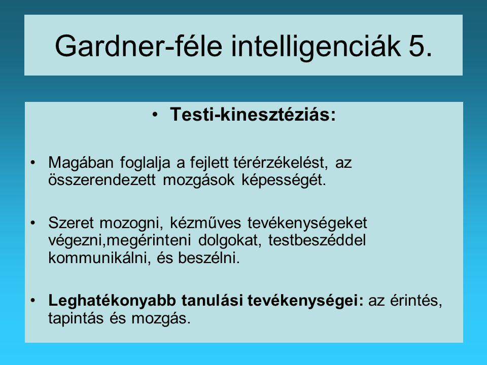 Gardner-féle intelligenciák 5.