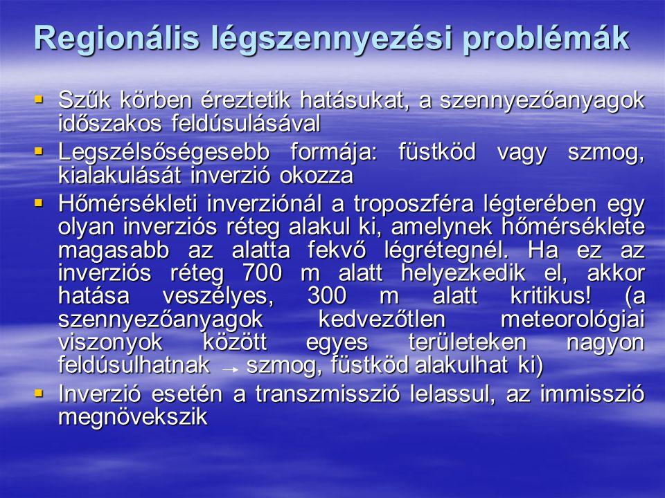 Regionális légszennyezési problémák