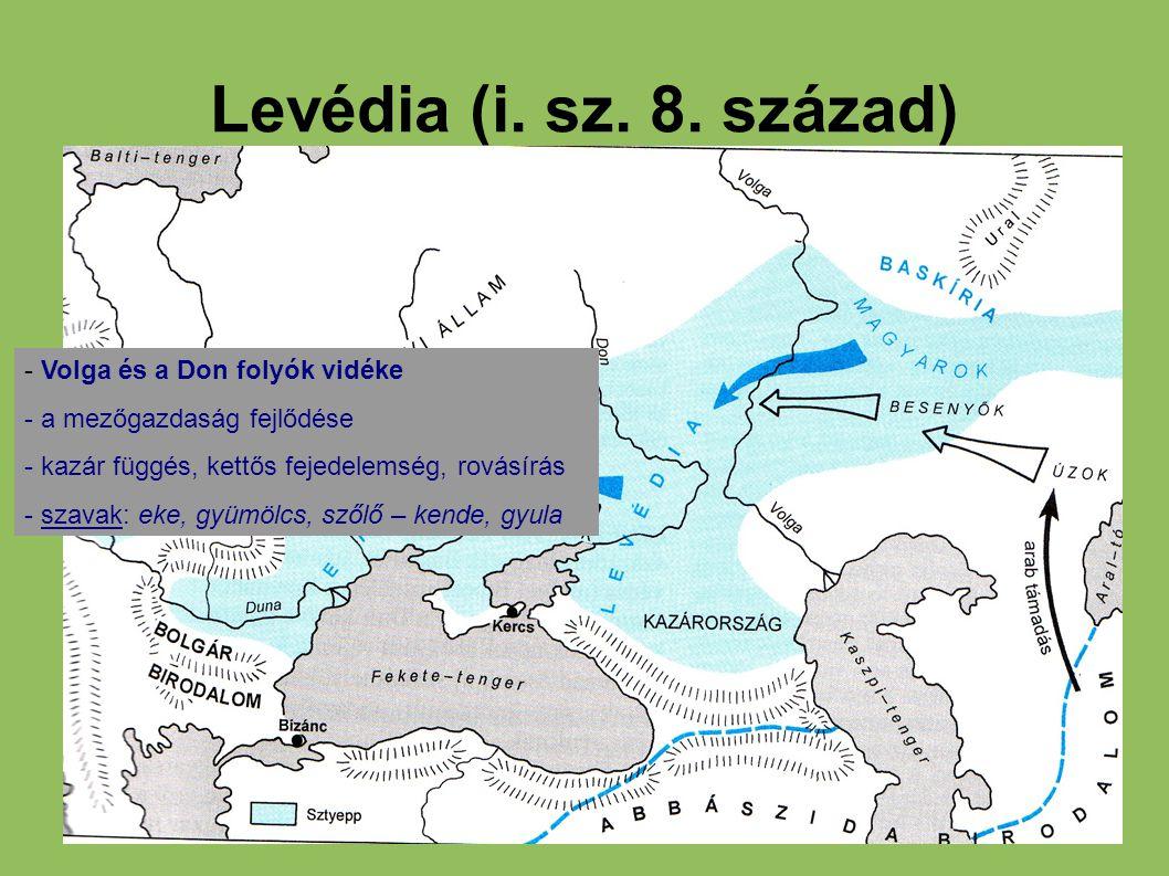 Levédia (i. sz. 8. század) - Volga és a Don folyók vidéke
