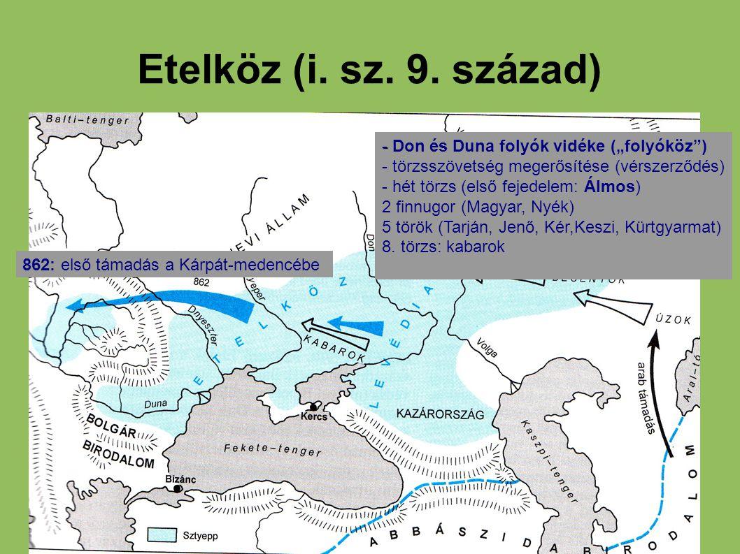 """Etelköz (i. sz. 9. század) - Don és Duna folyók vidéke (""""folyóköz )"""