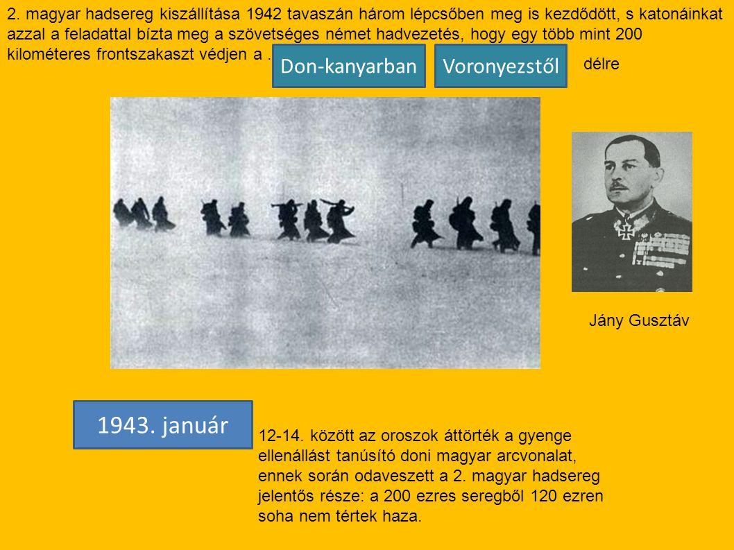 1943. január Don-kanyarban Voronyezstől