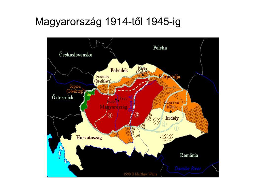 Magyarország 1914-től 1945-ig