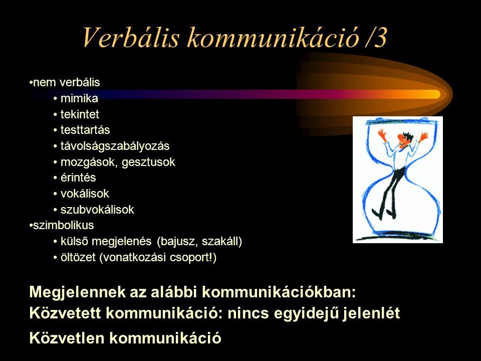 Verbális kommunikáció /3