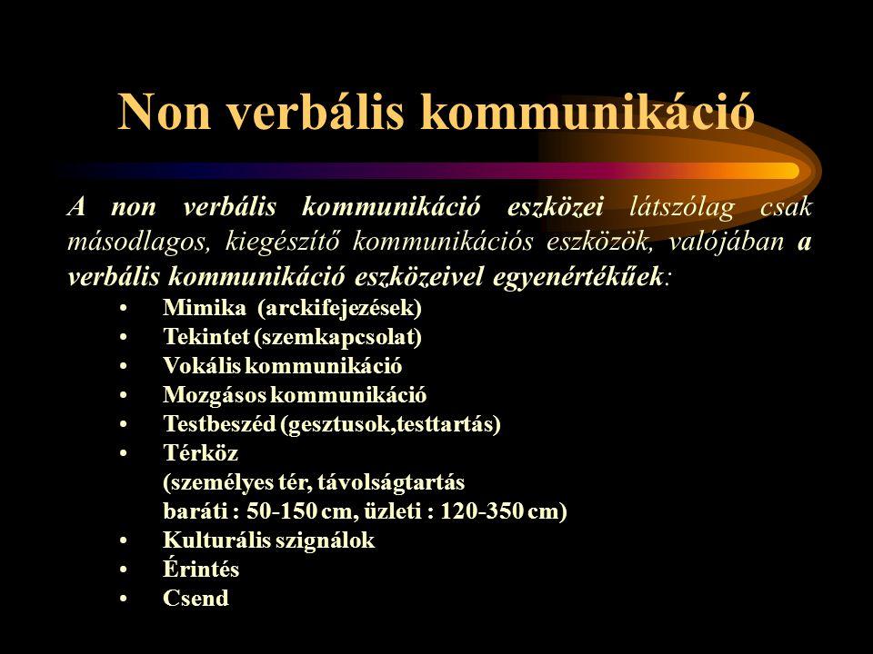 Non verbális kommunikáció
