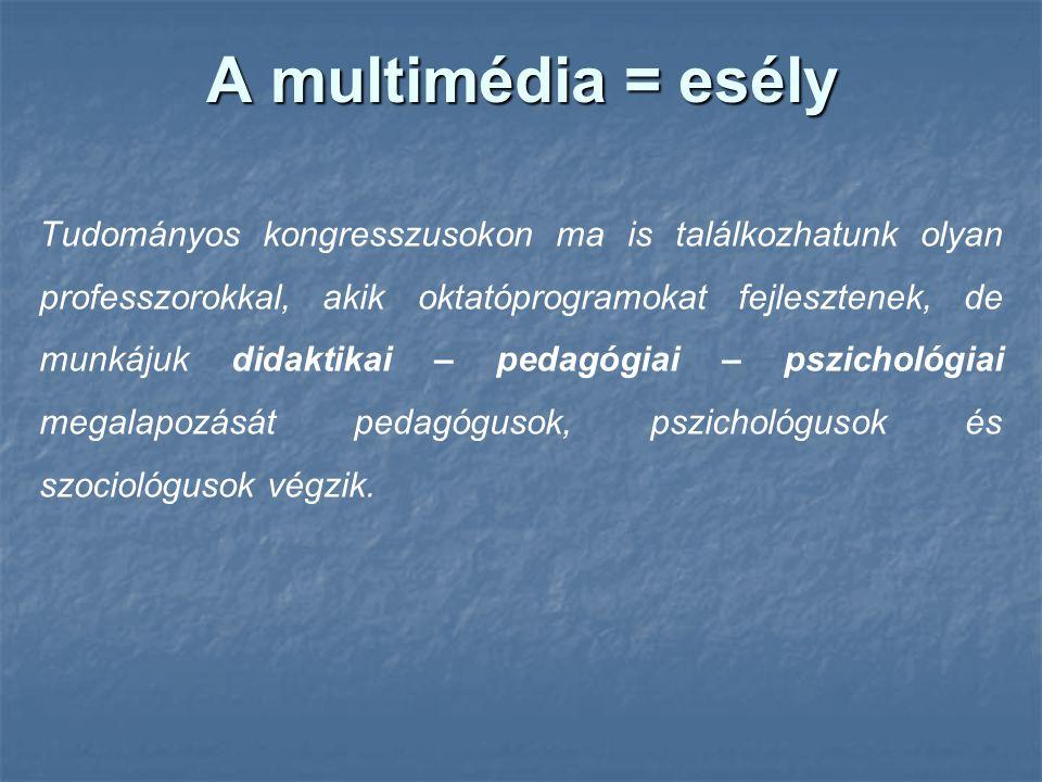 A multimédia = esély
