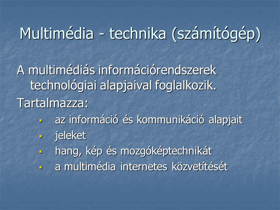 Multimédia - technika (számítógép)