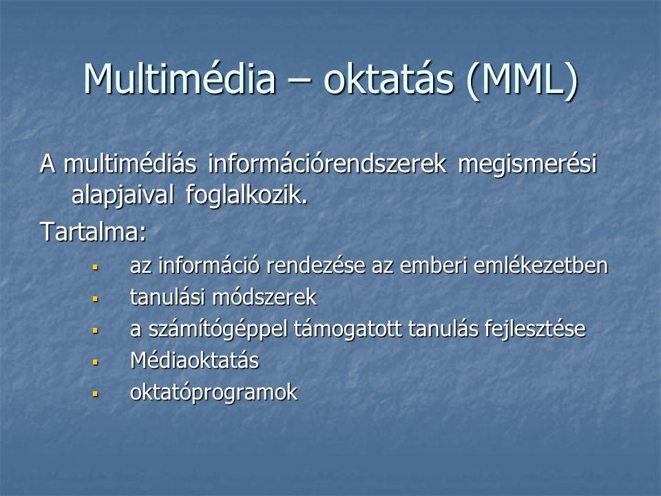 Multimédia – oktatás (MML)