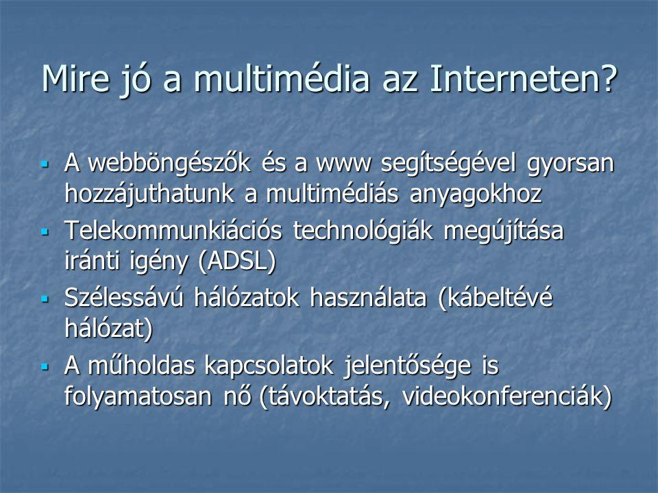 Mire jó a multimédia az Interneten