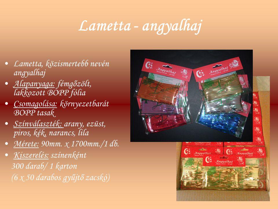 Lametta - angyalhaj Lametta, közismertebb nevén angyalhaj
