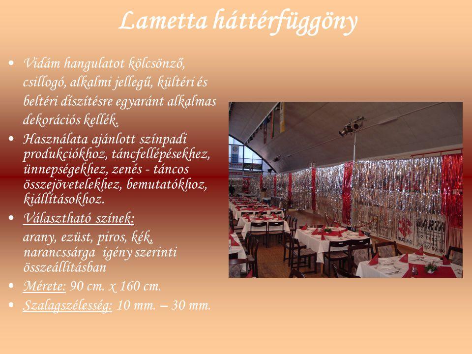 Lametta háttérfüggöny