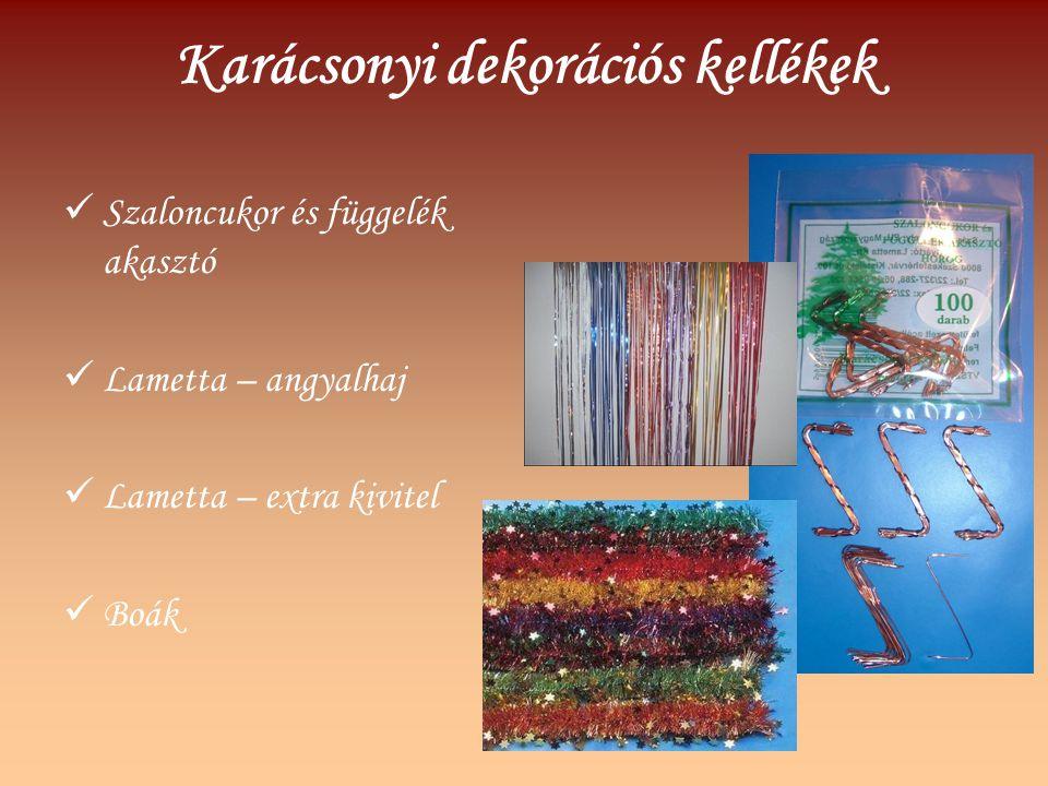 Karácsonyi dekorációs kellékek