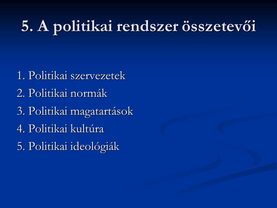 5. A politikai rendszer összetevői