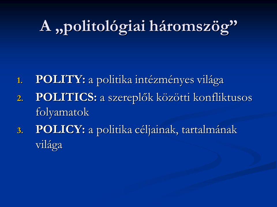 "A ""politológiai háromszög"