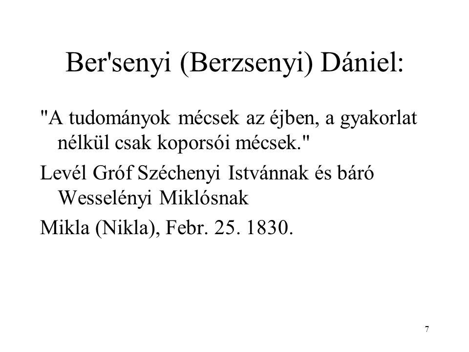 Ber senyi (Berzsenyi) Dániel: