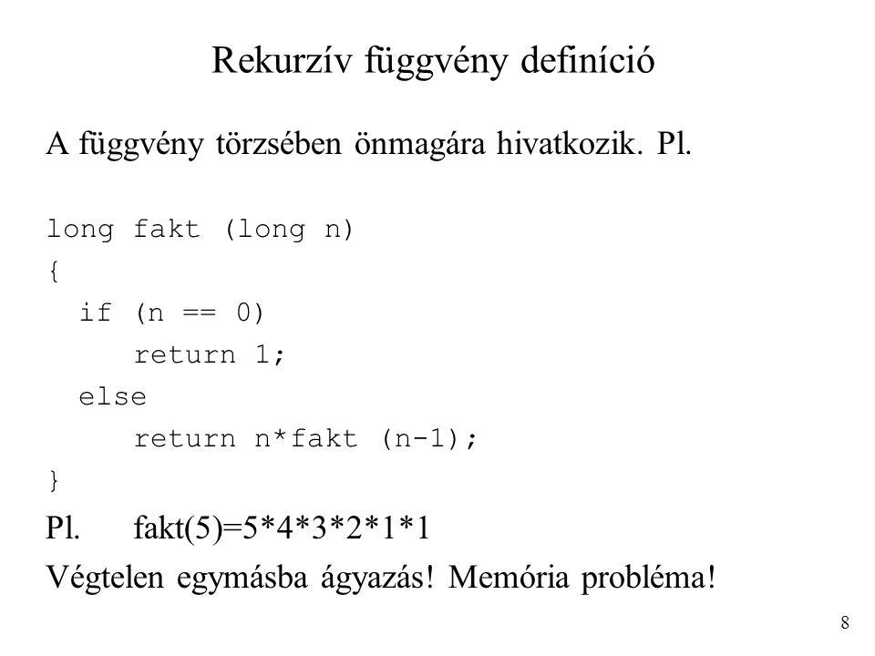 Rekurzív függvény definíció