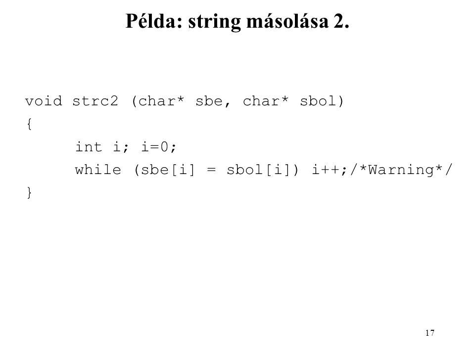 Példa: string másolása 2.