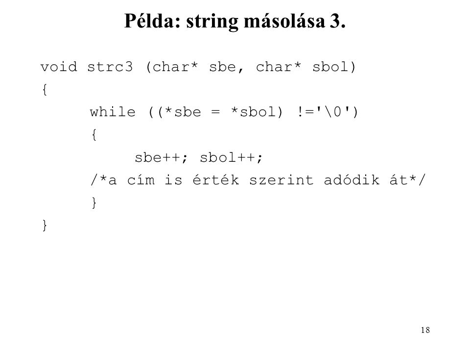 Példa: string másolása 3.