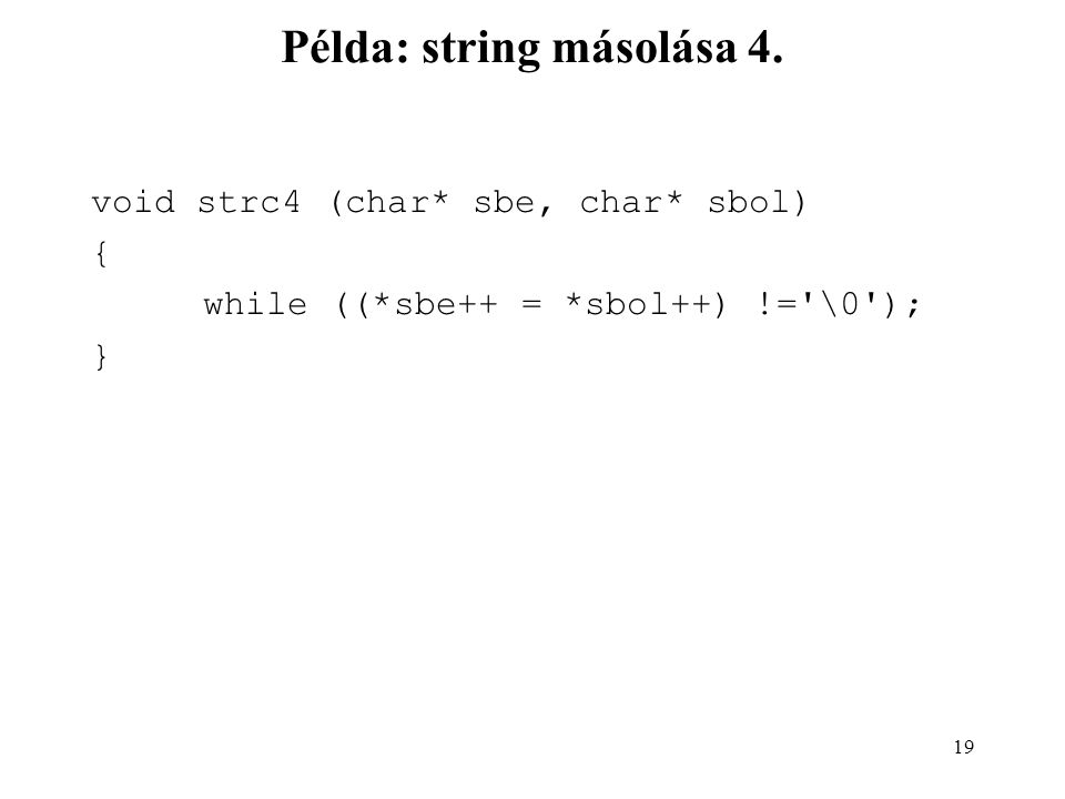 Példa: string másolása 4.