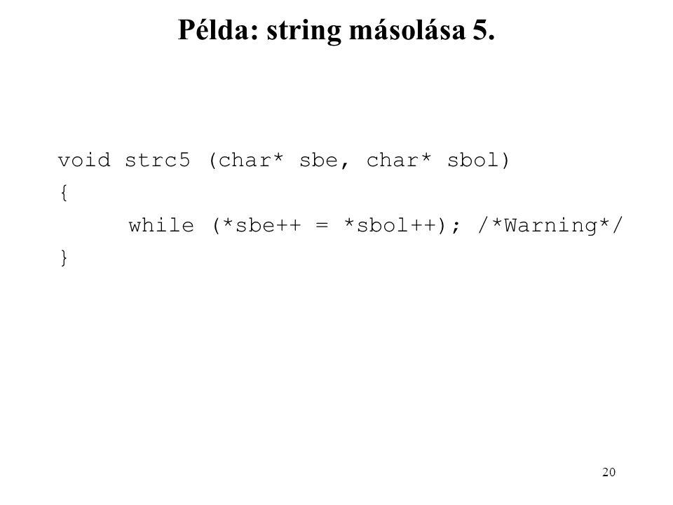 Példa: string másolása 5.