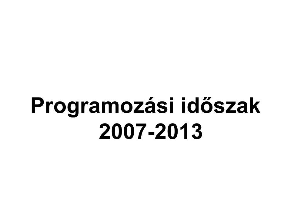Programozási időszak 2007-2013