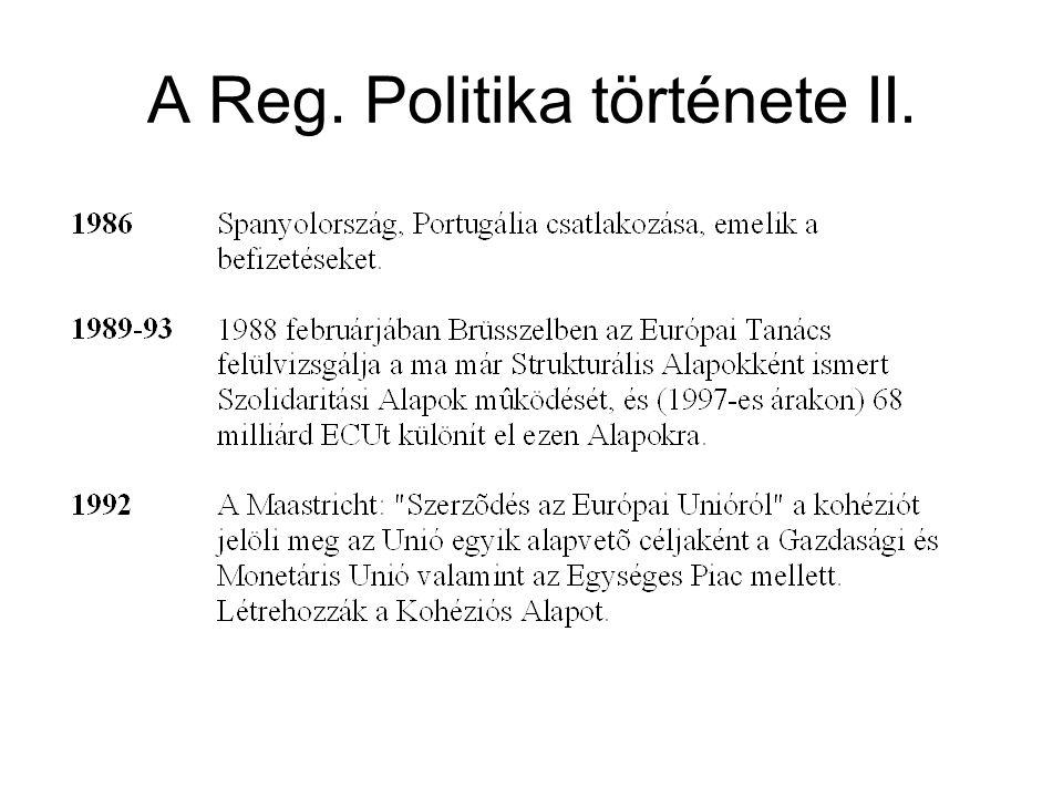 A Reg. Politika története II.