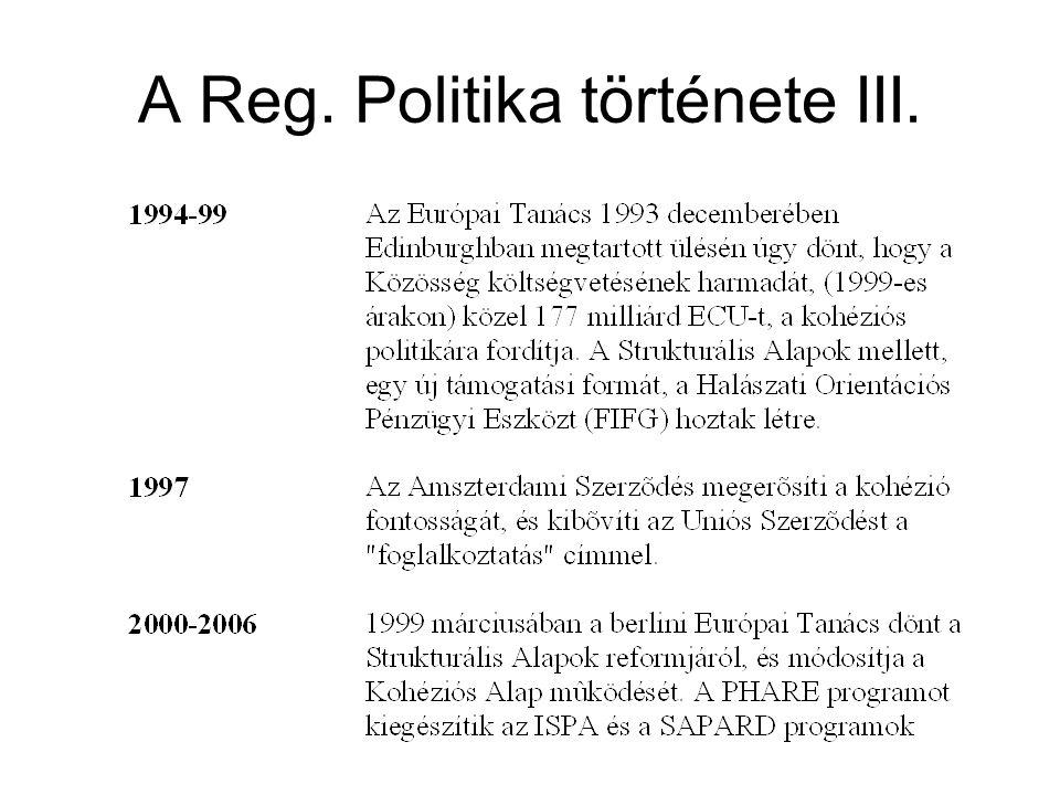 A Reg. Politika története III.