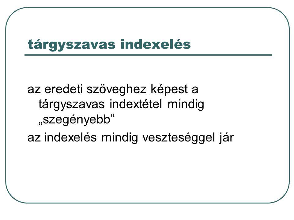 tárgyszavas indexelés