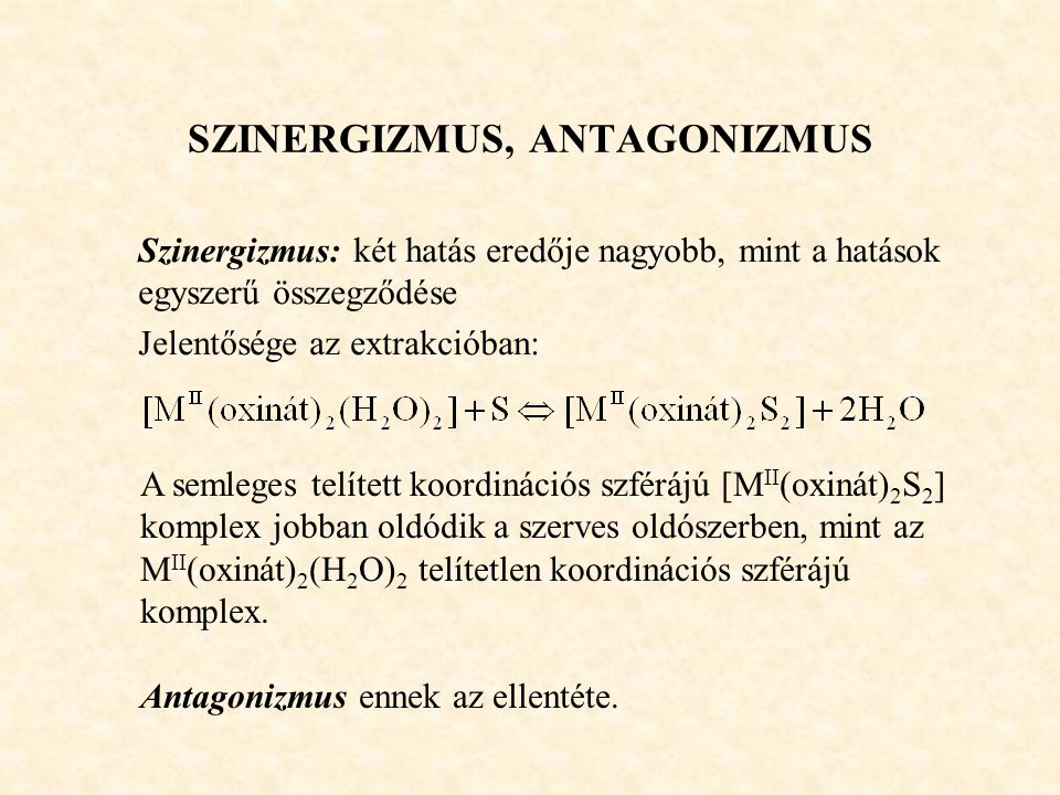 SZINERGIZMUS, ANTAGONIZMUS