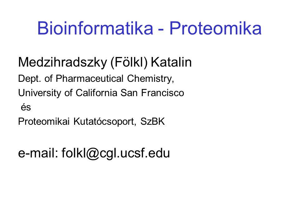 Bioinformatika - Proteomika