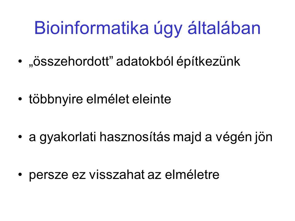 Bioinformatika úgy általában