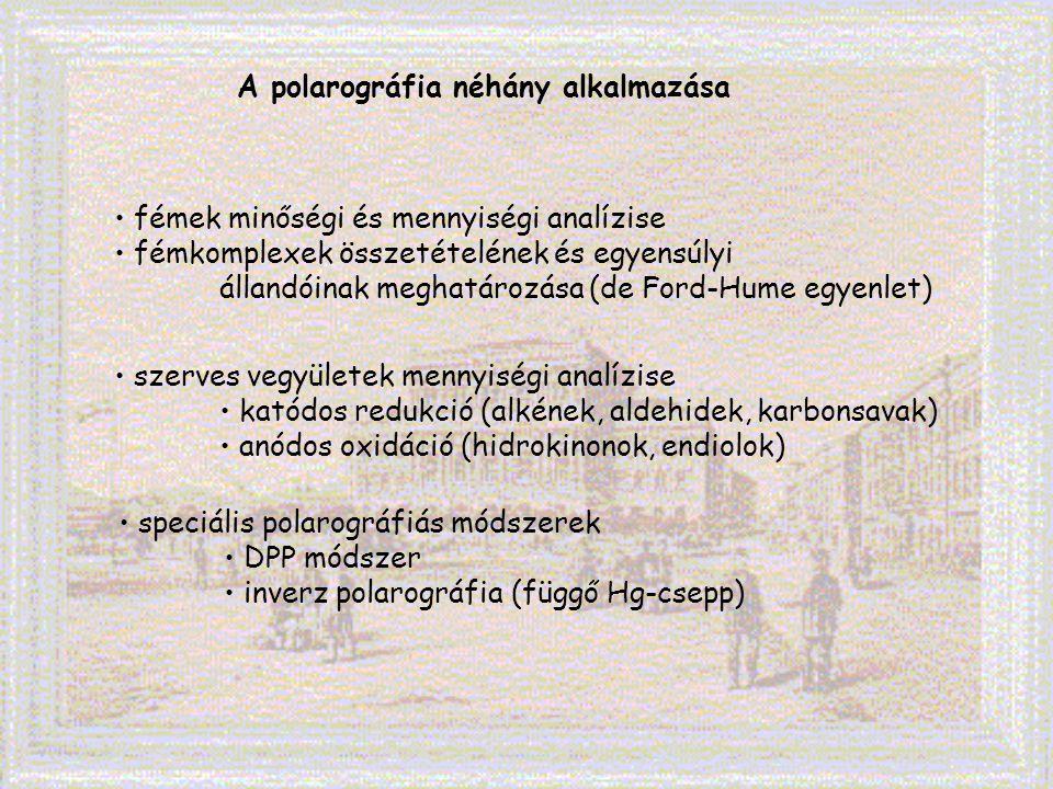 A polarográfia néhány alkalmazása