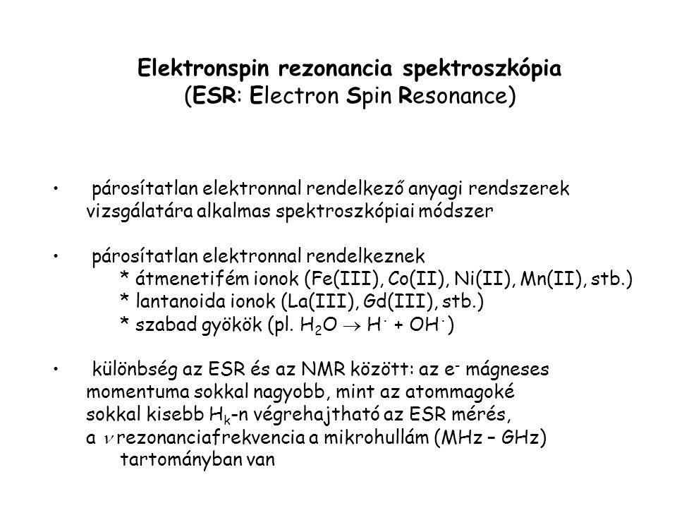 Elektronspin rezonancia spektroszkópia