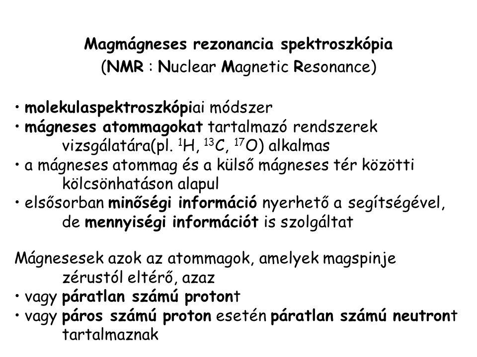 Magmágneses rezonancia spektroszkópia