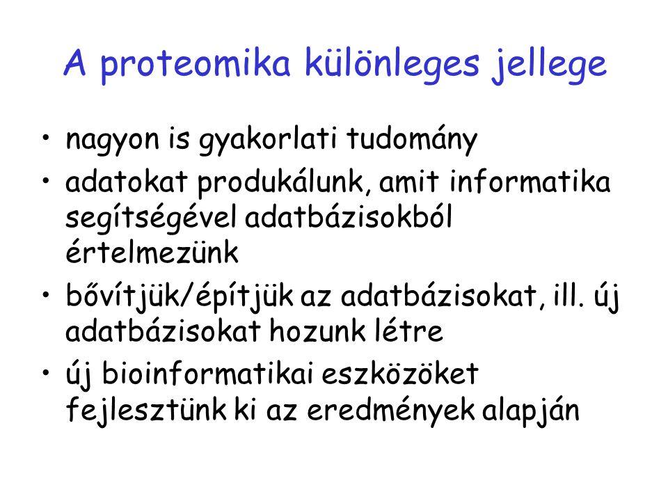 A proteomika különleges jellege