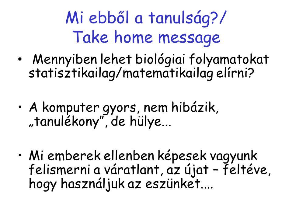 Mi ebből a tanulság / Take home message