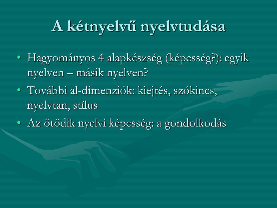 A kétnyelvű nyelvtudása