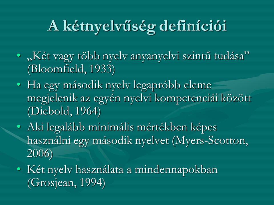 A kétnyelvűség definíciói