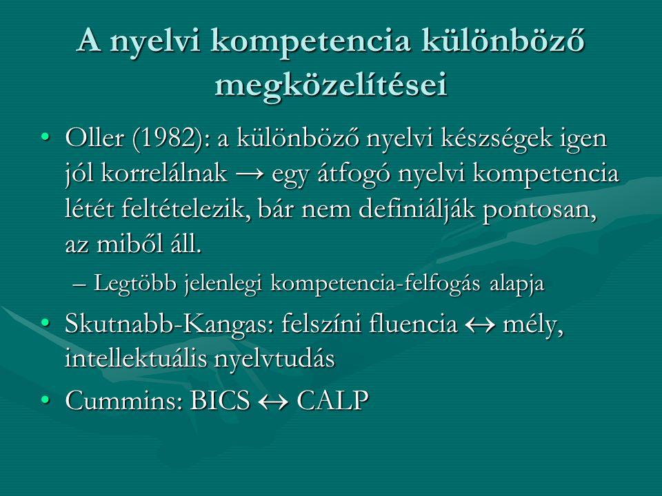 A nyelvi kompetencia különböző megközelítései