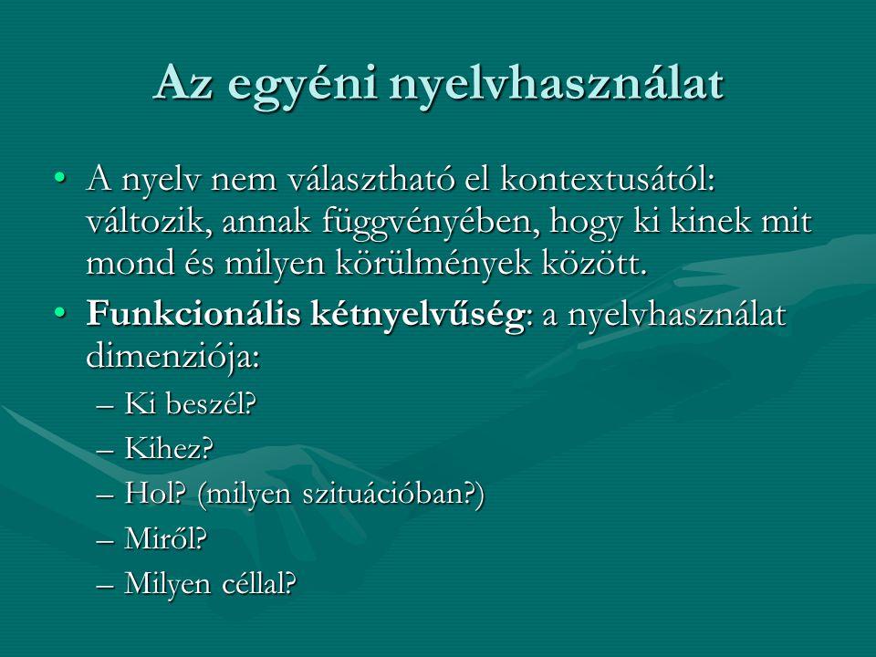 Az egyéni nyelvhasználat