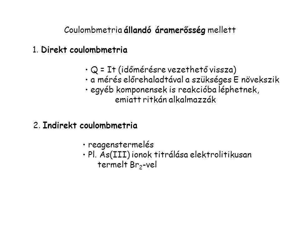 Coulombmetria állandó áramerősség mellett