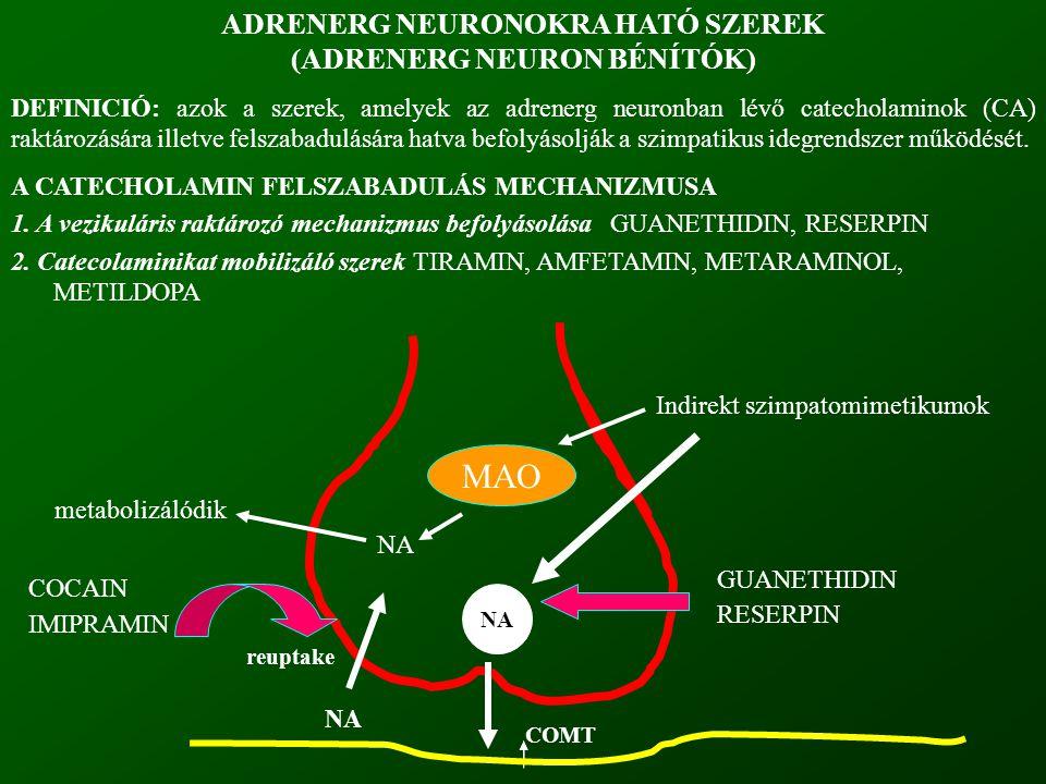 ADRENERG NEURONOKRA HATÓ SZEREK (ADRENERG NEURON BÉNÍTÓK)