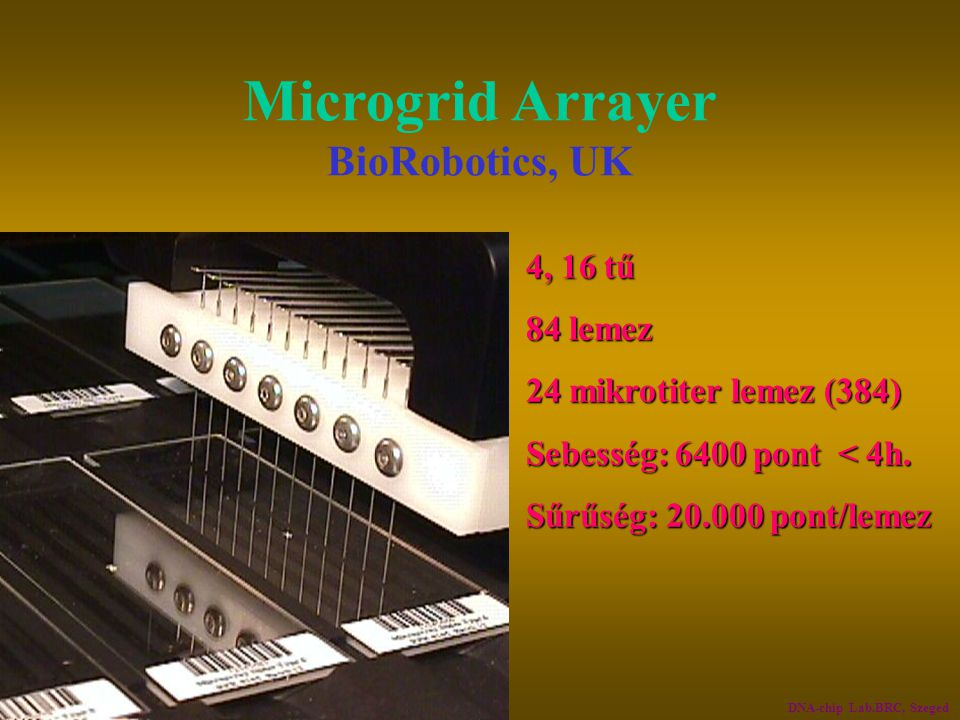 Microgrid Arrayer BioRobotics, UK
