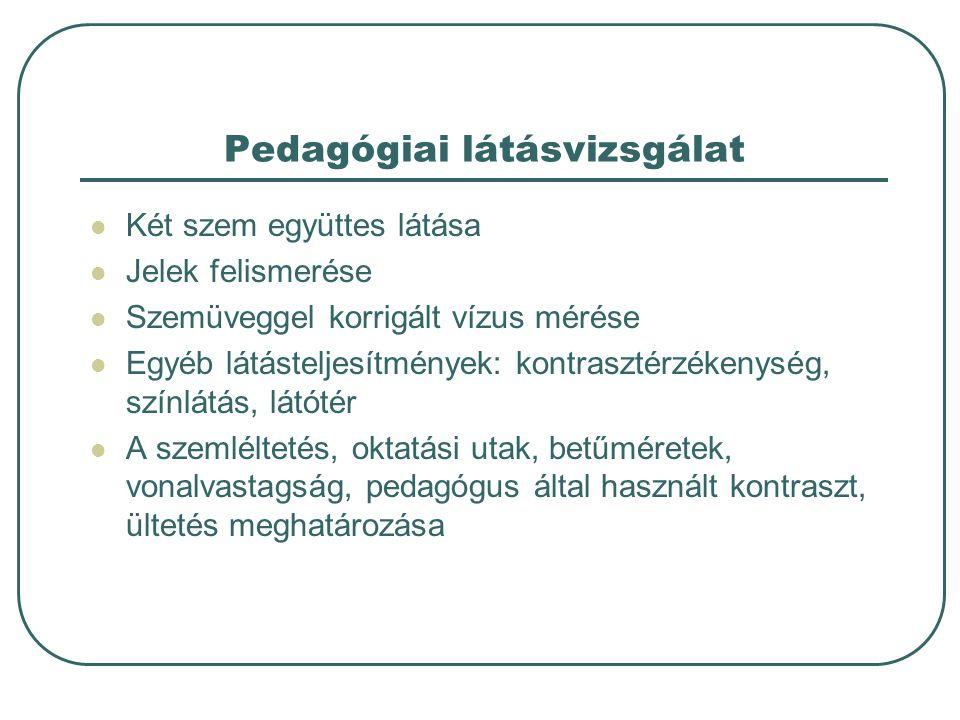 Pedagógiai látásvizsgálat