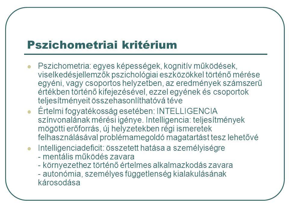 Pszichometriai kritérium